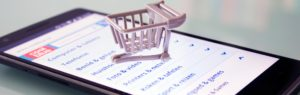 Online shopping with a physical shopping cart