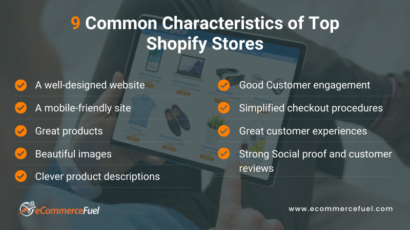 Common Characteristics of Top Shopify Stores