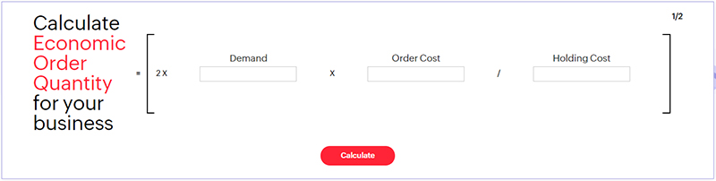 How Economic Order Quantity is calculated