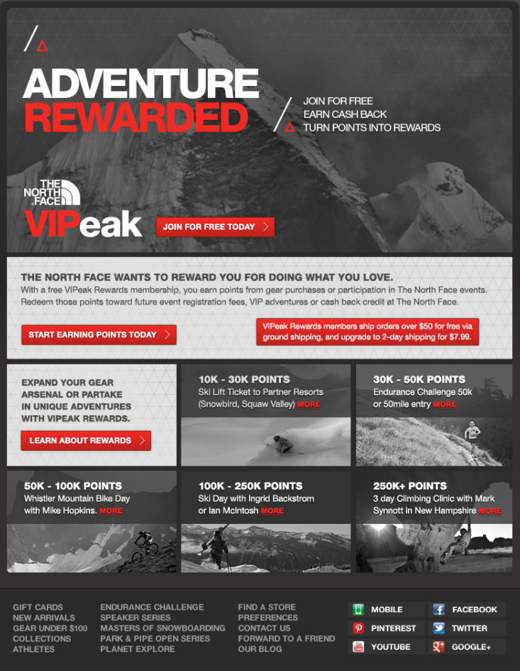 the north face adventure post