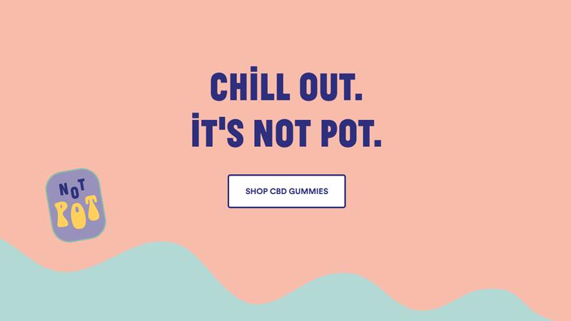Not Pot homepage