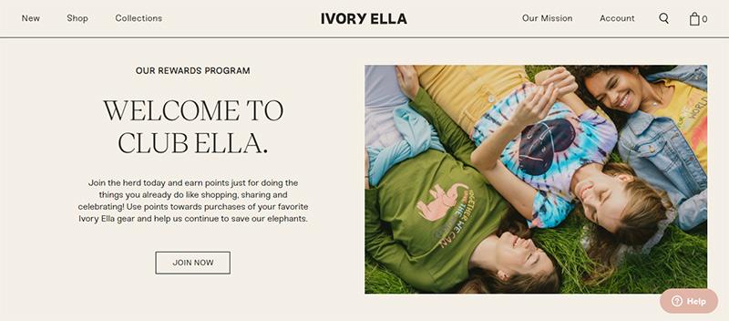 Ivory Ella Homepage
