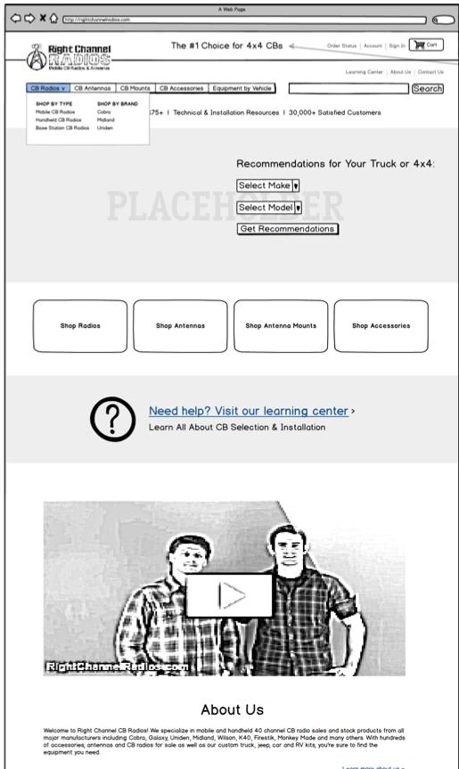 Homepage-Wireframe
